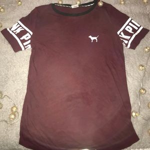 PINK Burgundy T-shirt